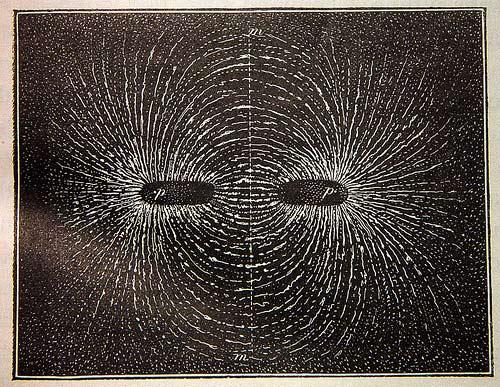 Líneas de campo magnético de un imán